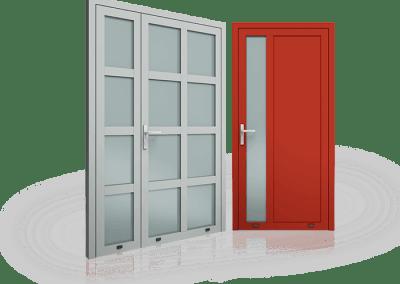 Slika prikazuje vhodna vrata Plus Line
