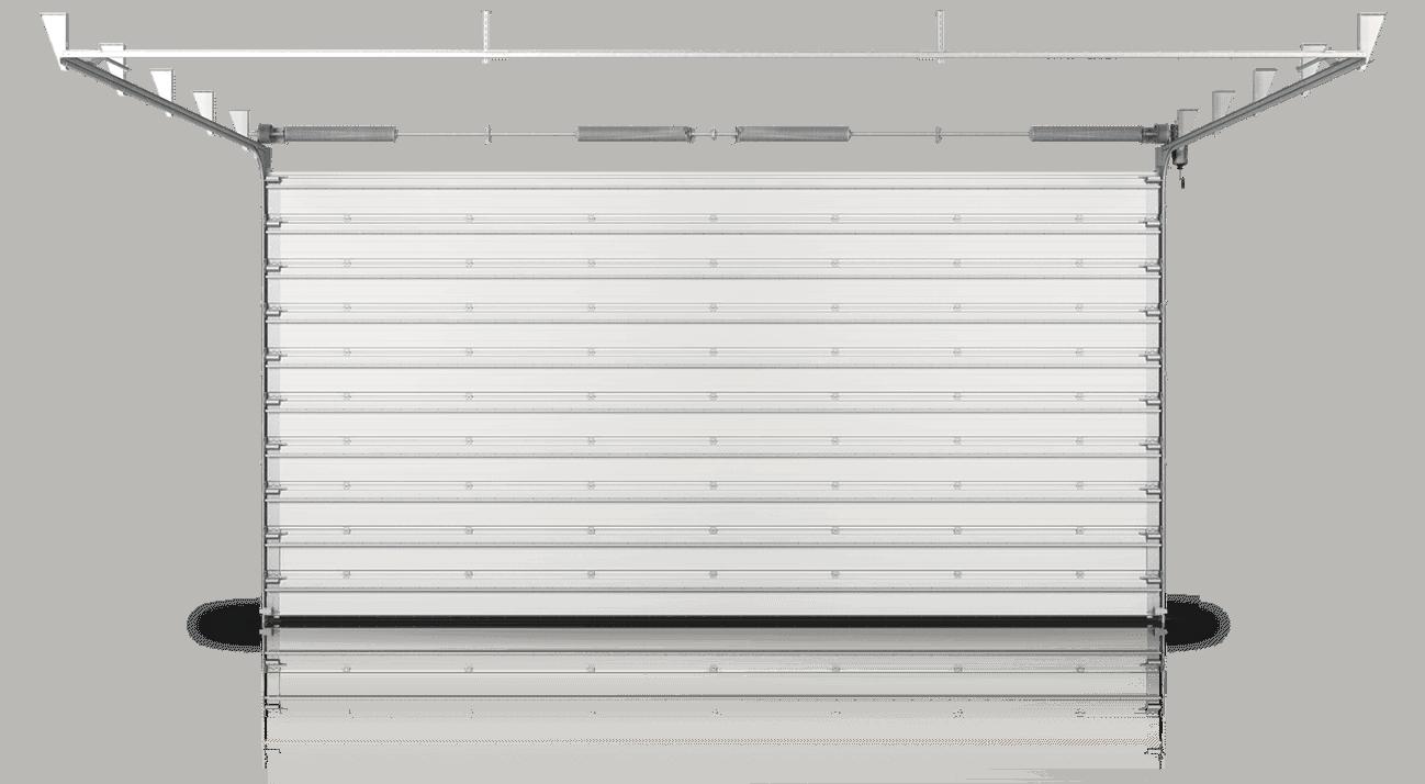 Slika prikazuje industrijska sekcijska vrata MakroTherm