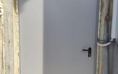ECO enokrilna kovinska vrata – Krško
