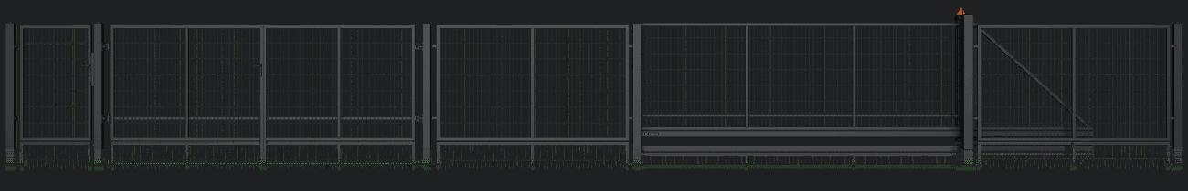 Slika prikazuje ograjni sistem Classic