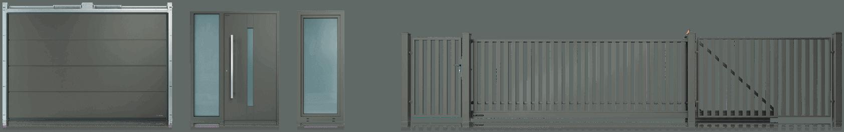 Slika prikazuje ograjni sistem v barvi Hi brown stone