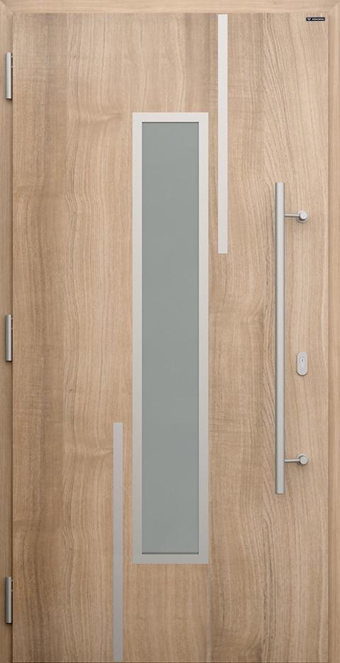 Slika prikazuje nova vhodna vrata, vzorec: 002