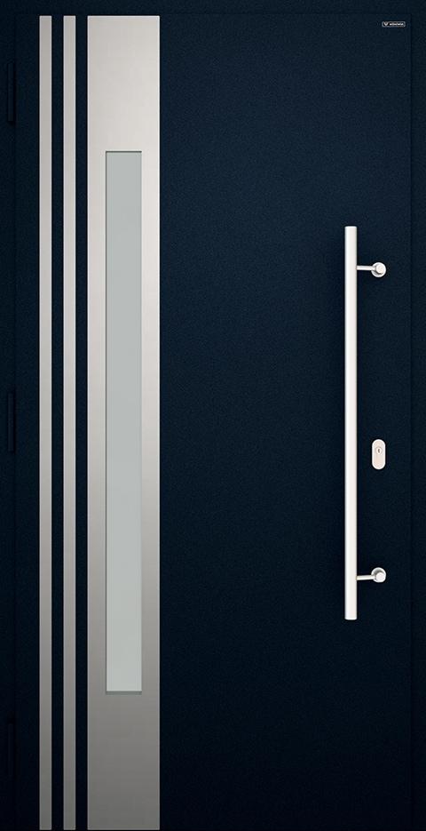 Slika prikazuje nova vhodna vrata, vzorec: 004