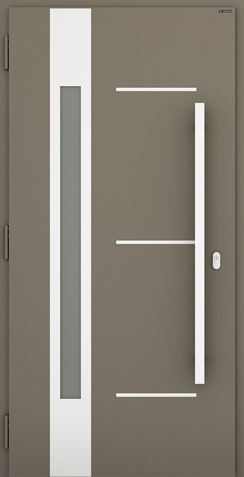 Slika prikazuje nova vhodna vrata, vzorec 007