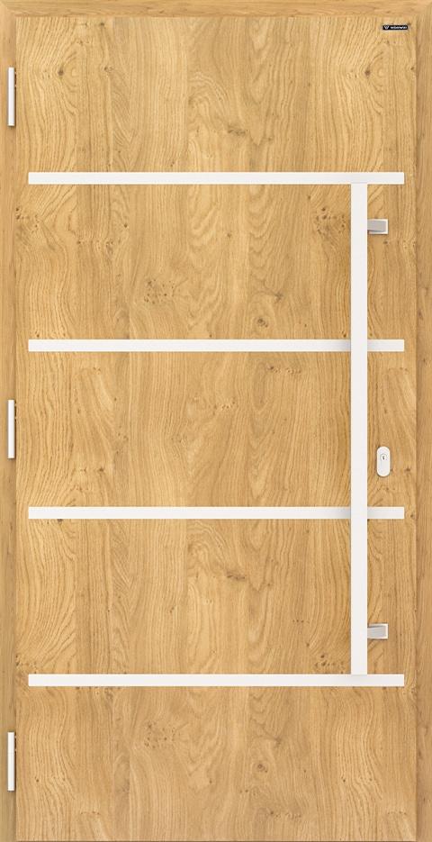 Slika prikazuje vhodna vrata nova, vzorec: 009