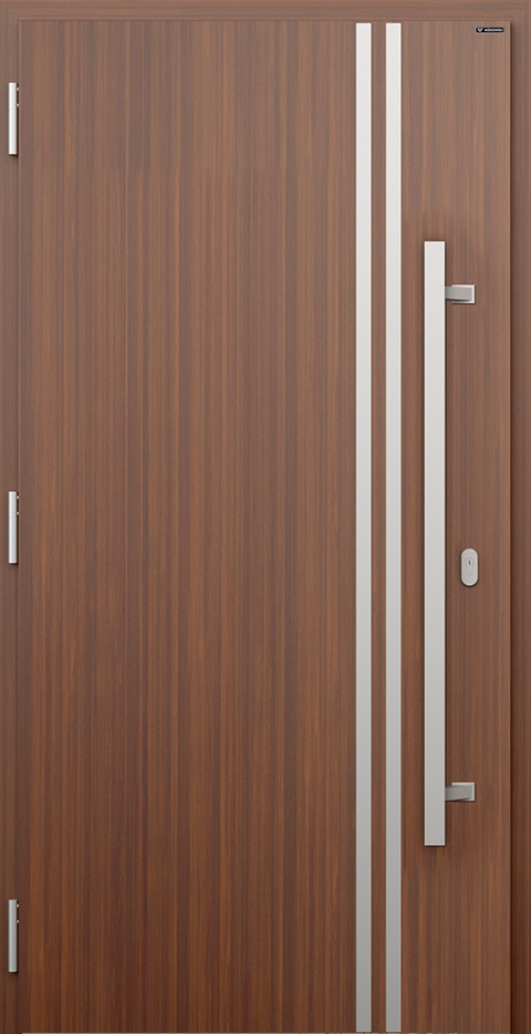Slika prikazuje nova vhodna vrata, vzorec 011