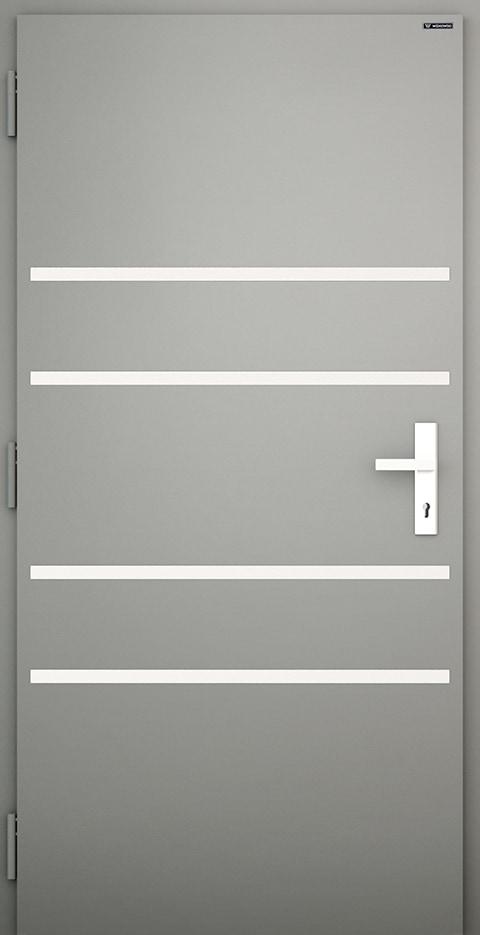 Slika prikazuje nova vhodna vrata, vzorec: 012