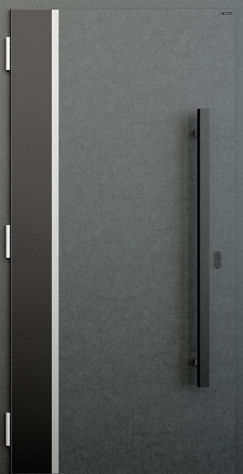 Slika prikazuje nova vhodna vrata, vzorec: 013