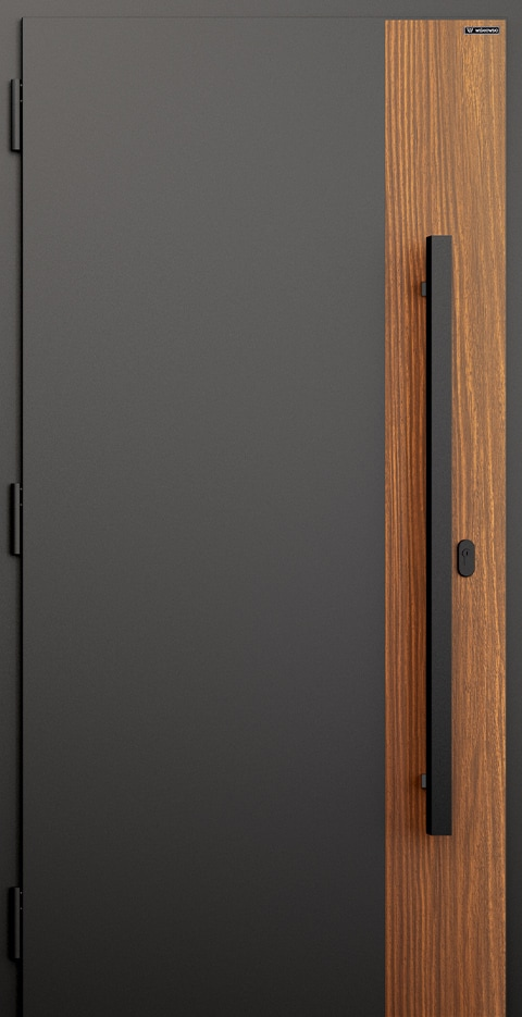 Slika prikazuje nova vhodna vrata, vzorec: 015