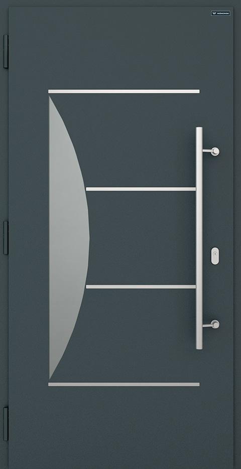 Slika prikazuje nova vhodna vrata, vzorec: 016