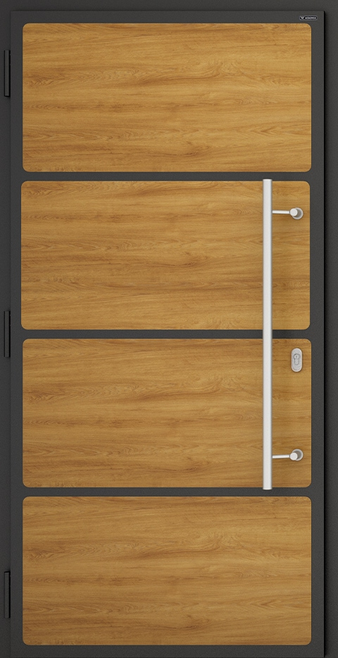 Slika prikazuje nova vhodna vrata, vzorec: 018