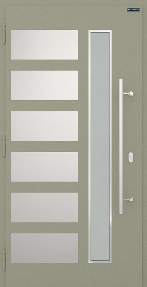 Slika prikazuje nova vhodna vrata, vzorec: 019