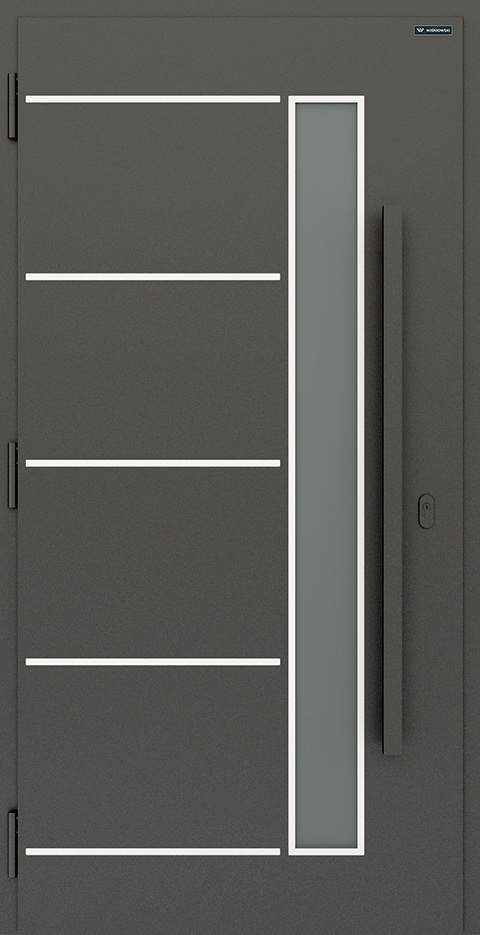 Slika prikazuje nova vhodna vrata, vzorec: 020