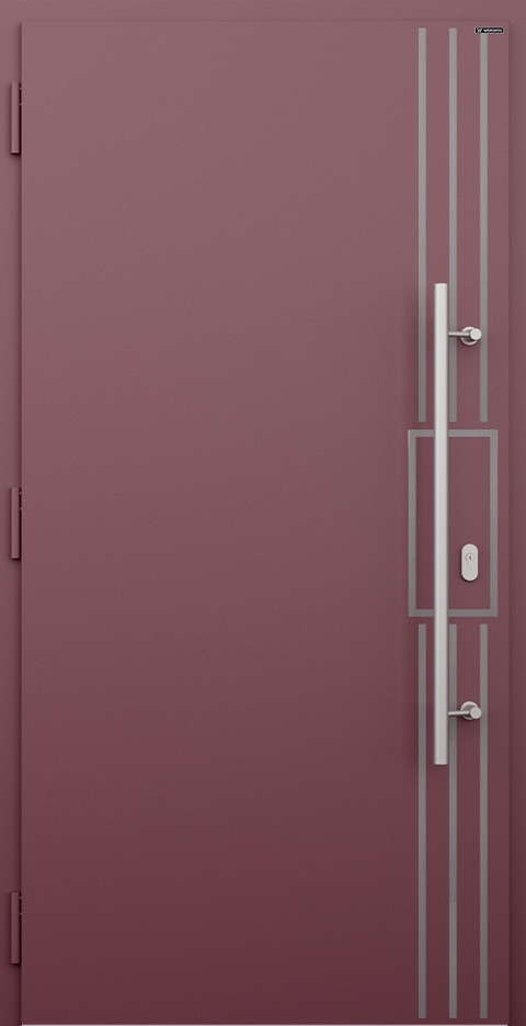 Slika prikazuje nova vhodna vrata, vzorec: 021
