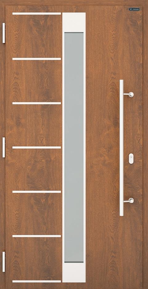 Slika prikazuje nova vhodna vrata, vzorec: 025