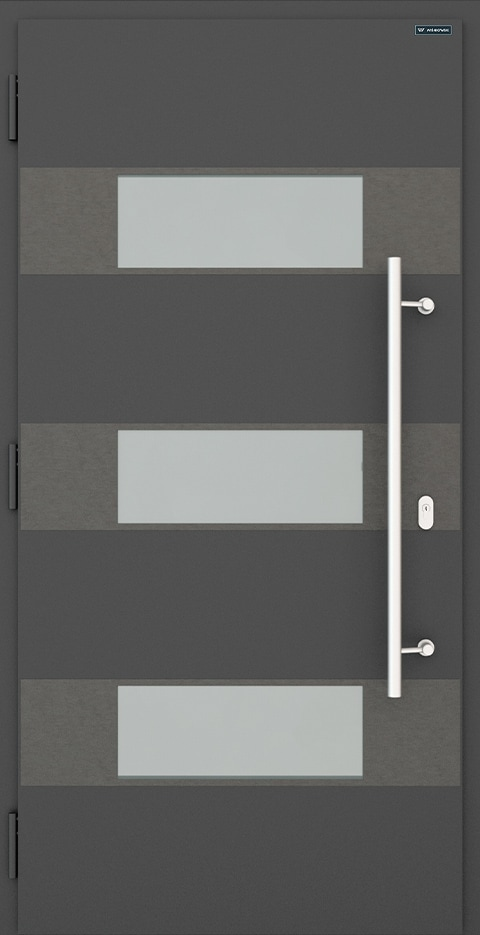 Slika prikazuje nova vhodna vrata, vzorec: 026