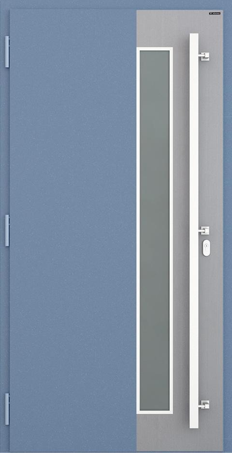 Slika prikazuje nova vhodna vrata, vzorec: 028
