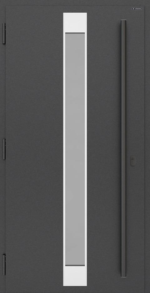 Slika prikazuje nova vhodna vrata, vzorec: 033