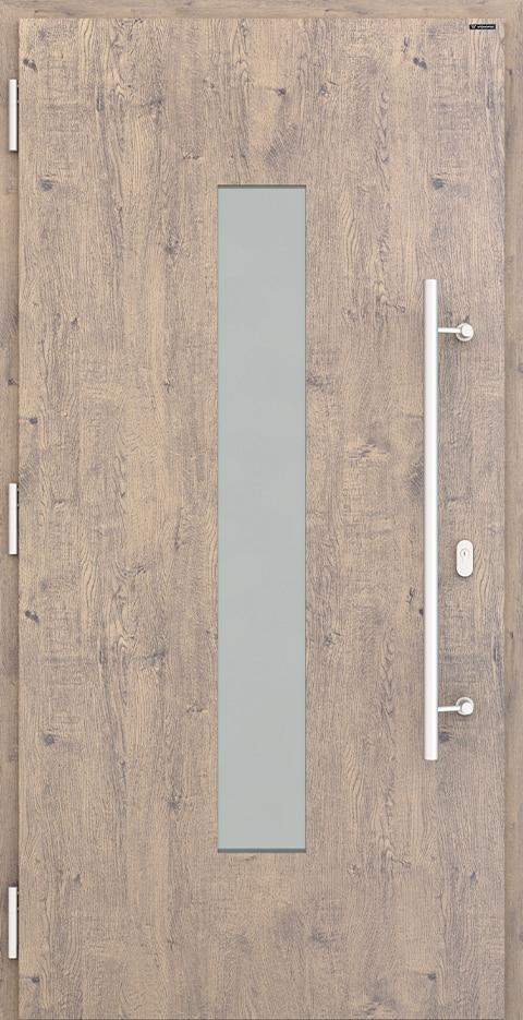 Slika prikazuje nova vhodna vrata, vzorec: 035