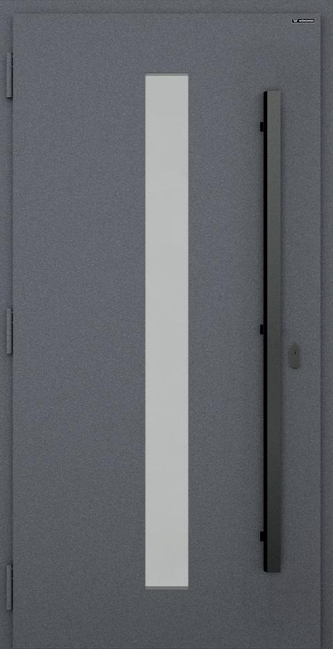 Slika prikazuje nova vhodna vrata, vzorec: 038