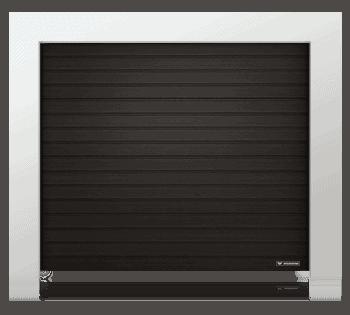 Slika prikazuje UniPro sekcijska garažna vrata z nizko črto